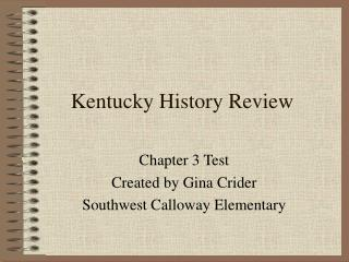 kentucky history review