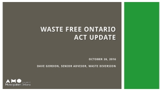 Producer supported Municipal Blue Box Recycling Collection in Ontario