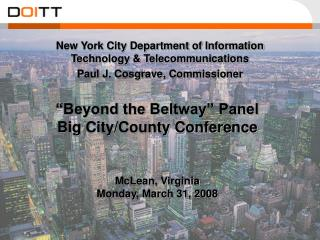 Beyond the Beltway  Panel  Big City