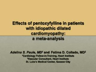 Effects of pentoxyfylline in patients with idiopathic dilated cardiomyopathy: a meta-analysis