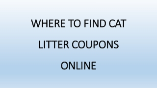 Where to Find Cat Litter Coupons Online