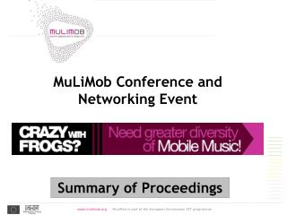MuLiMob Conference and Networking Event