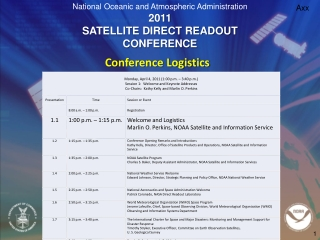 Welcome to the NOAA Satellite Conference for Direct Readout, GOES