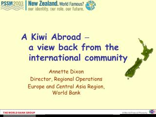 A Kiwi Abroad    a view back from the international community