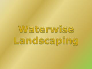 Waterwise Landscaping