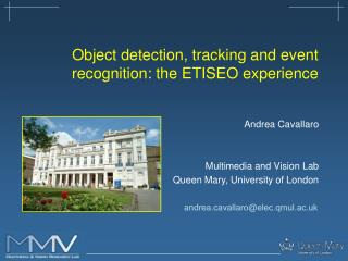 Object detection, tracking and event recognition: the ETISEO experience