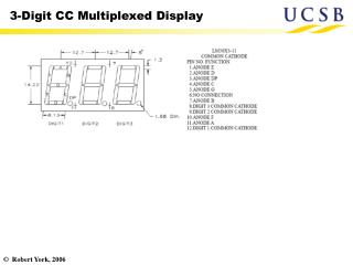 3-Digit CC Multiplexed Display