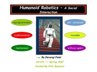 Humanoid Robotics   A Social Interaction