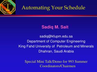 Automating Your Schedule