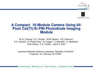 A Compact  16-Module Camera Using 64-Pixel CsITl