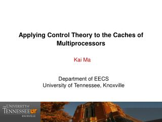 Applying Control Theory to the Caches of Multiprocessors