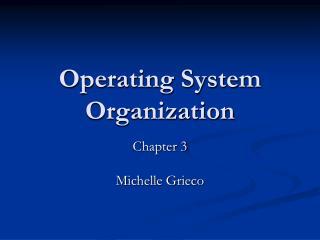 Operating System Organization