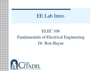 EE Lab Intro