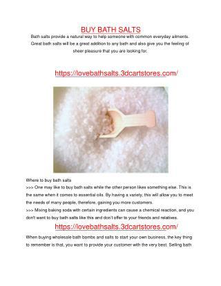 buy bath salts