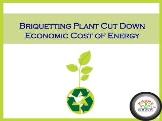 Biomass Briquetting Plant Cut Down Economic Cost of Energy