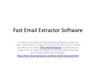 Fast Email Extractor Software