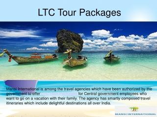 LTC Tour Packages India- Mansi International