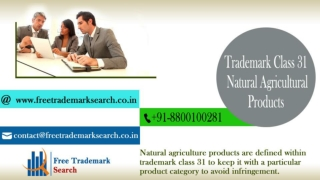Trademark Class 31 | Natural Agricultural Products