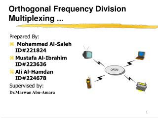 Orthogonal Frequency Division Multiplexing ...