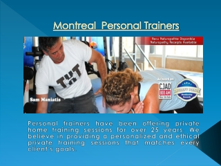 Montreal Personal Training