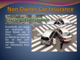 Non Owners Car Insurance