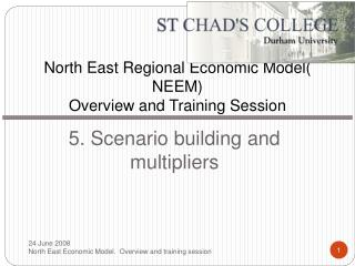 North East Regional Economic Model NEEM Overview and Training Session