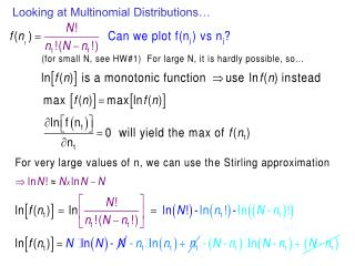 Looking at Multinomial Distributions