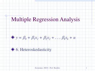 Economics 30031 - Prof. Buckles