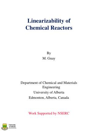Linearizability of Chemical Reactors