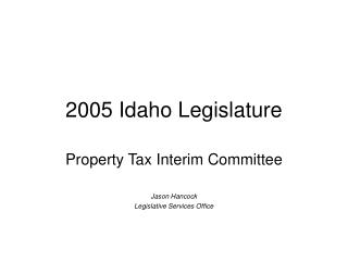 2005 Idaho Legislature