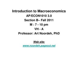 Introduction to Macroeconomics AP