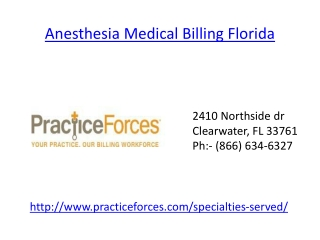 Anesthesia Billing Service Florida