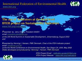 International Federation of Environmental Health ifeh