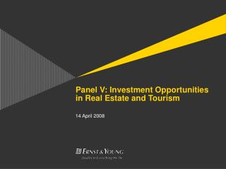 Panel V: Investment Opportunities in Real Estate and Tourism