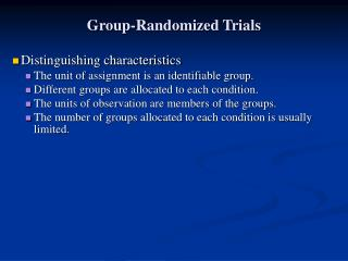 Group-Randomized Trials