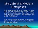 micro small  medium enterprises
