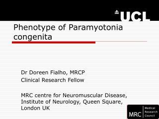 Phenotype of Paramyotonia congenita
