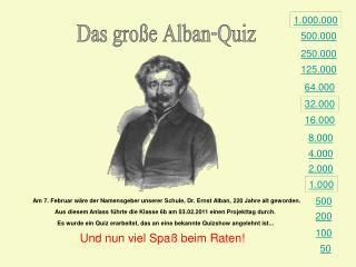 Das gro e Alban-Quiz
