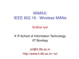 overview of ieee wireless network standards
