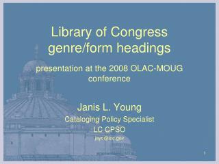 Library of Congress  genre