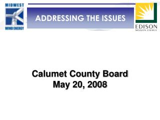 Calumet County Board May 20, 2008