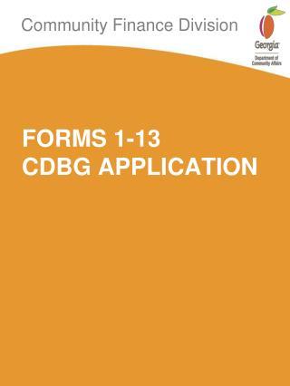 FORMS 1-13  CDBG APPLICATION