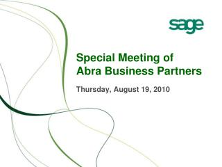 Special Meeting of  Abra Business Partners