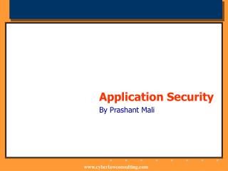 Application Security      By Prashant Mali