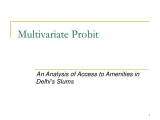 Multivariate Probit