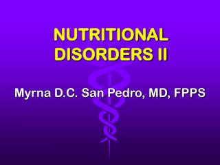 nutritional disorders ii