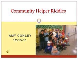 Community Helper Riddles