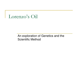 Lorenzo s Oil