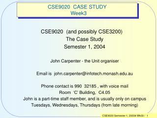 CSE9020  CASE STUDY   Week3