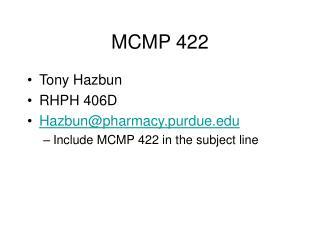 mcmp 422